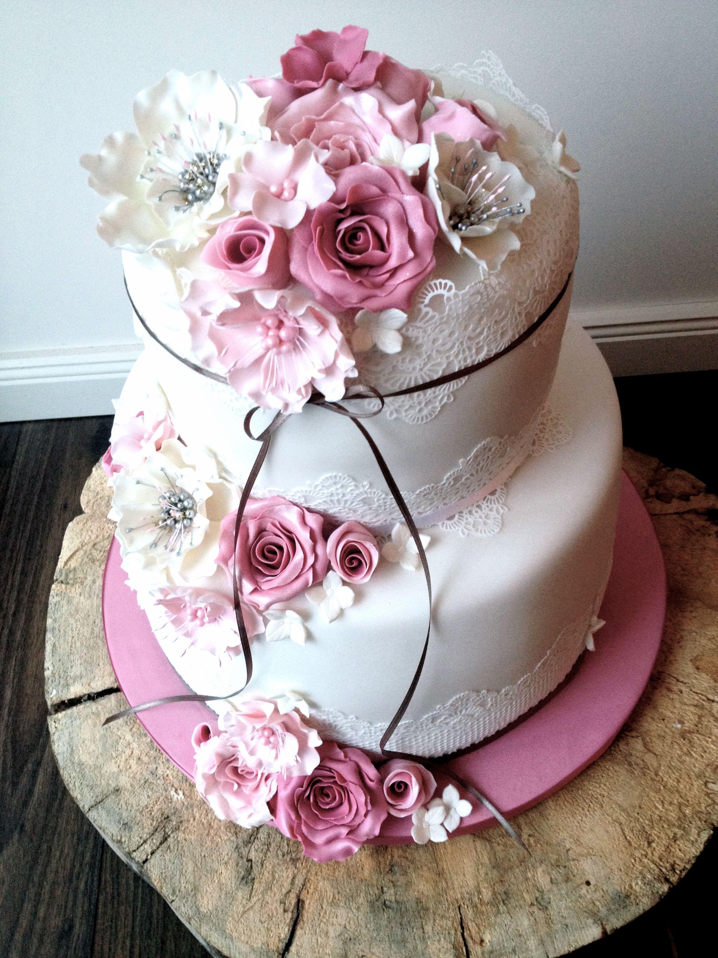 Vegane Hochzeitstorte Im Vintage Stil Tortenschon Wedding Cakes