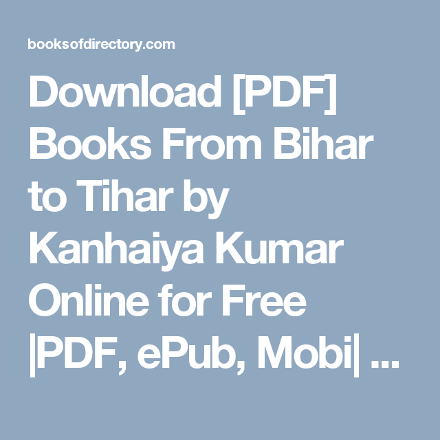 Download From Bihar To Tihar PDF Books - PDFBooks