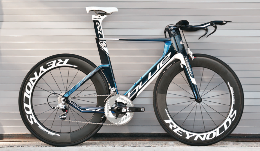 Awesome Blue Tri Bike Very Cool Lightweight Carbon Wheels And