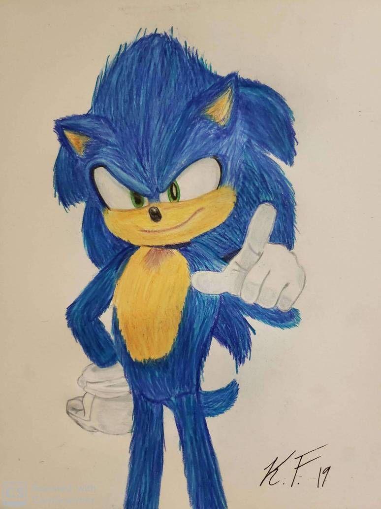 Sonic Movie Pose By Kenneth3570 On Deviantart Hedgehog Art Movie Art Sonic