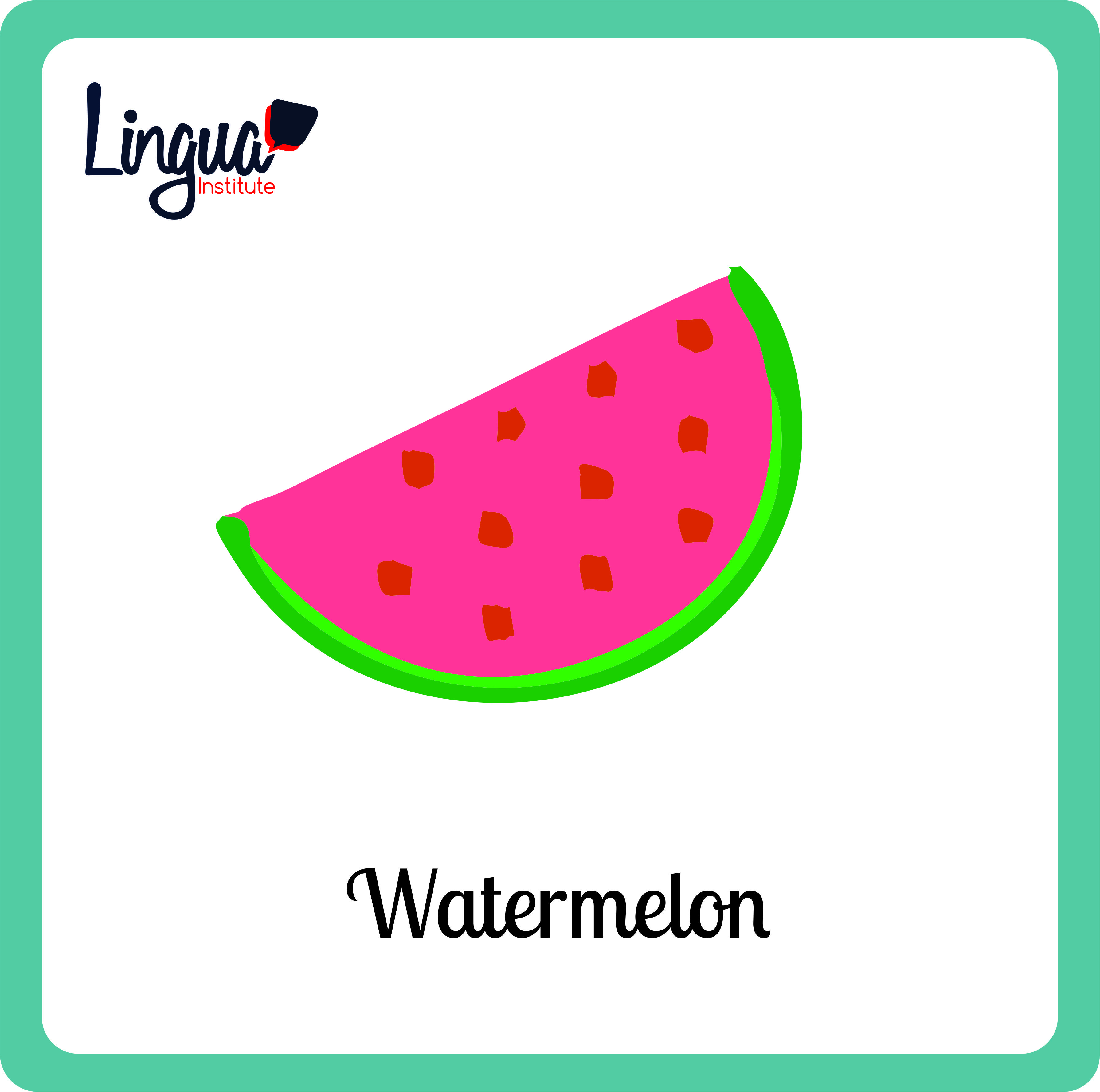 Sandia Watermelon Frutas En Ingles Fruits In English Lingua