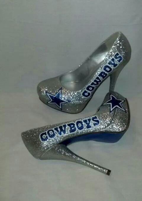 09f10c973695 True Cowboy fan! Dallas Cowboys Heels