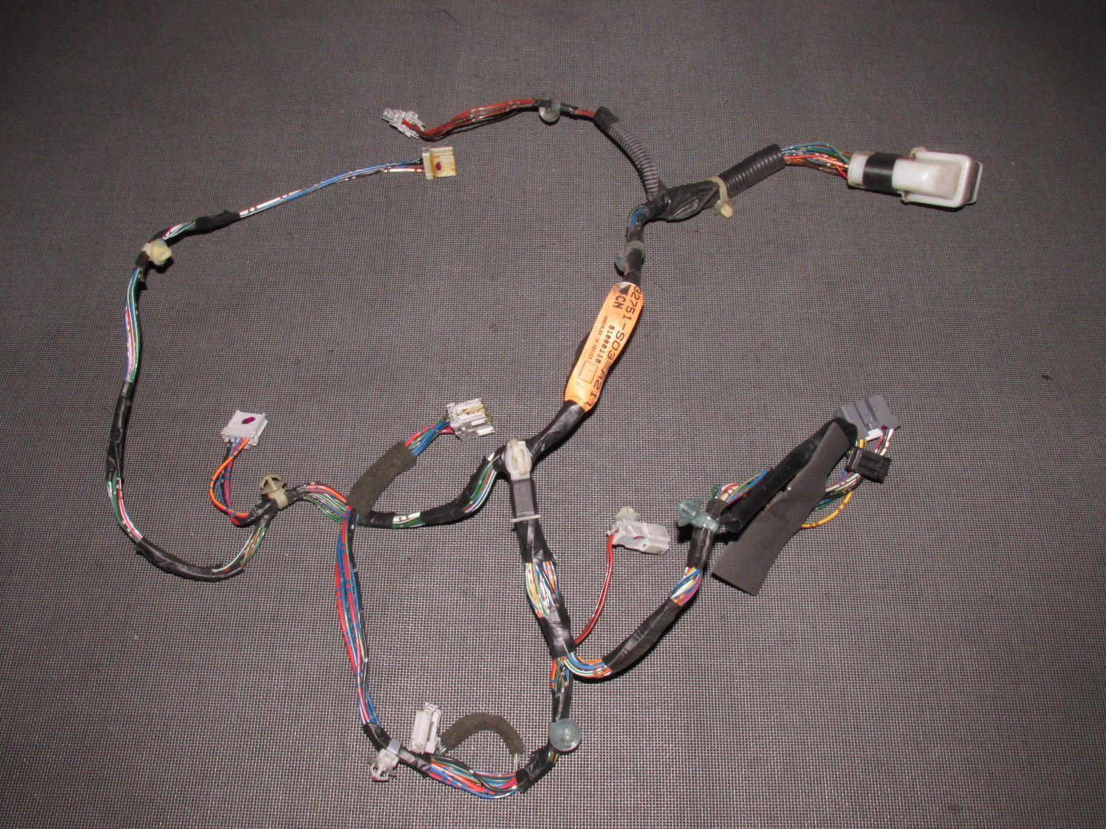 96 97 98 99 00 Honda Civic OEM Door Wiring Harness Left