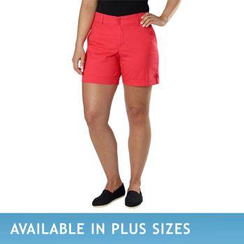 Costco Gloria Vanderbilt Ladies Comfort Waist Short Red Styley