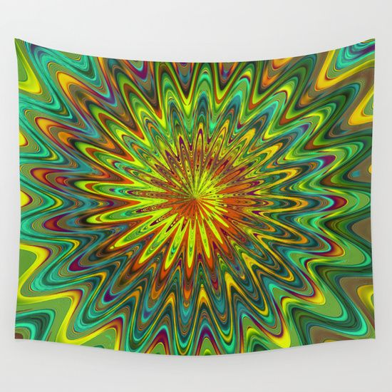 The Crazy Spiral Wall Tapestry