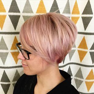 Short Rose Gold Hair Long Pixie Rose Pastel Hairspirations