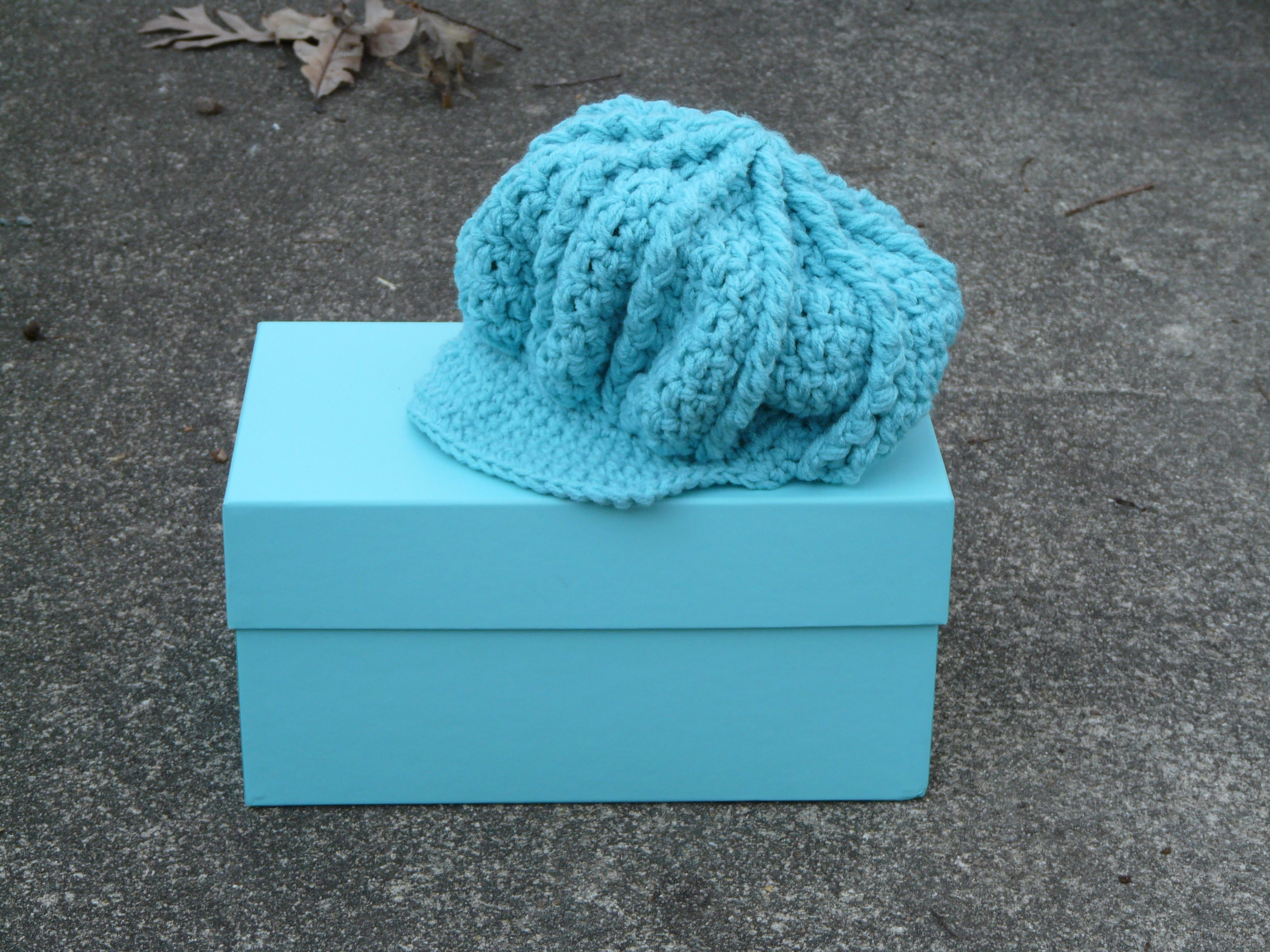 Classic Newsboy Hat - Kids Crochet Hat Pattern | from the ground to ...