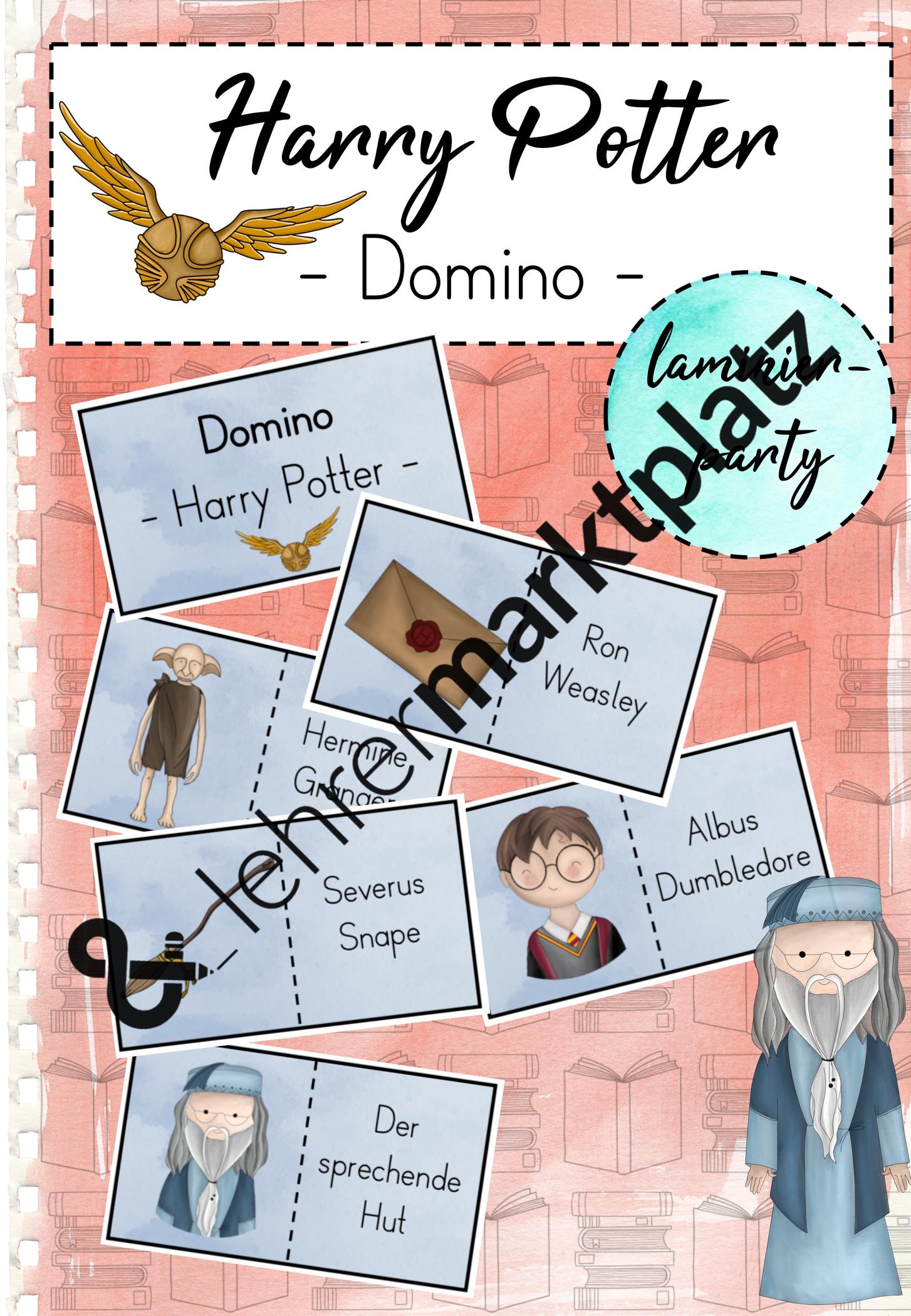 Harry Potter Domino Unterrichtsmaterial In Den Fachern Deutsch Fachubergreifendes Grundschule Harry Potter Schule Harry Potter Spiele
