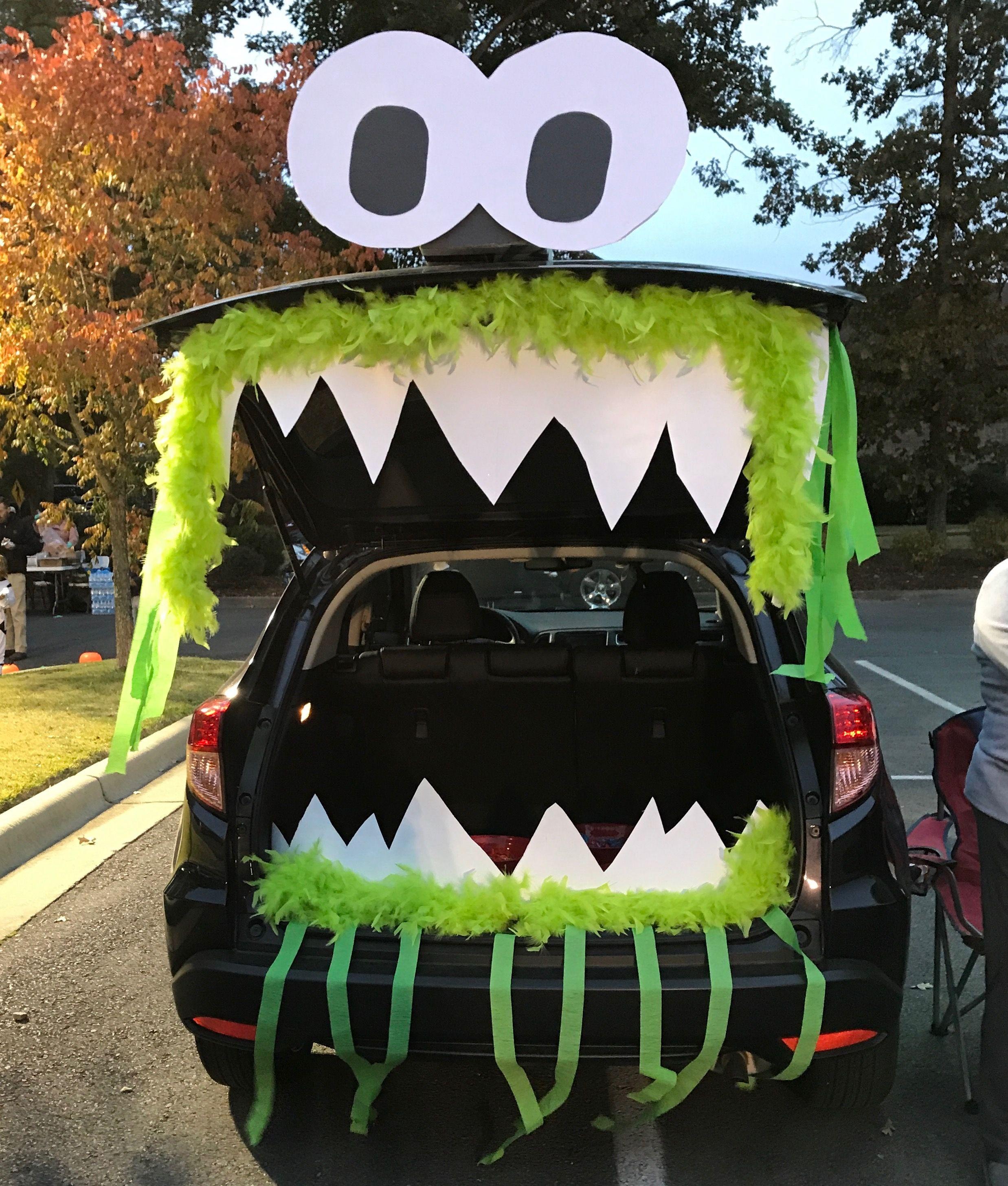 Cute Monster Trunk or Treat #trunkortreatideasforcarsforchurch