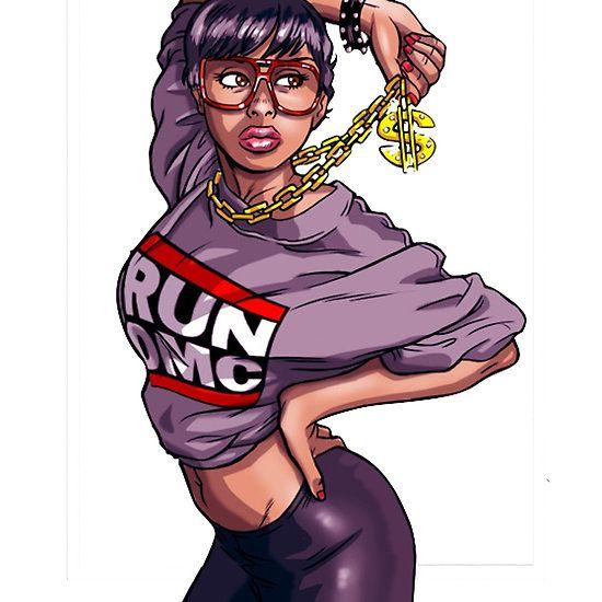 8526887625781640d1f29aa8c616716b Jpg 550 550 Hip Hop Illustration Hip Hop Art Black Girl Art
