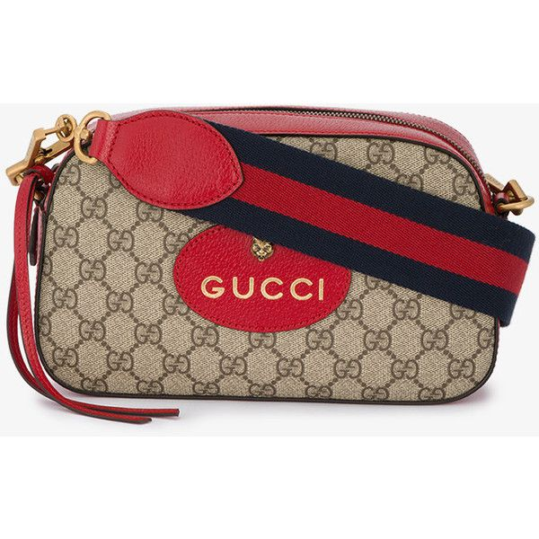 4d122ab36fa Gucci Gg Supreme Messenger Bag ( 875) ❤ liked on Polyvore featuring bags