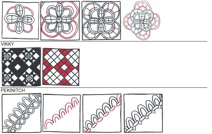 step by step instructions of zentangle patterns | Step-by-step