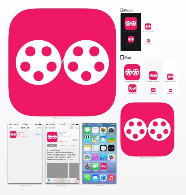 Snoovies App logo on Behance