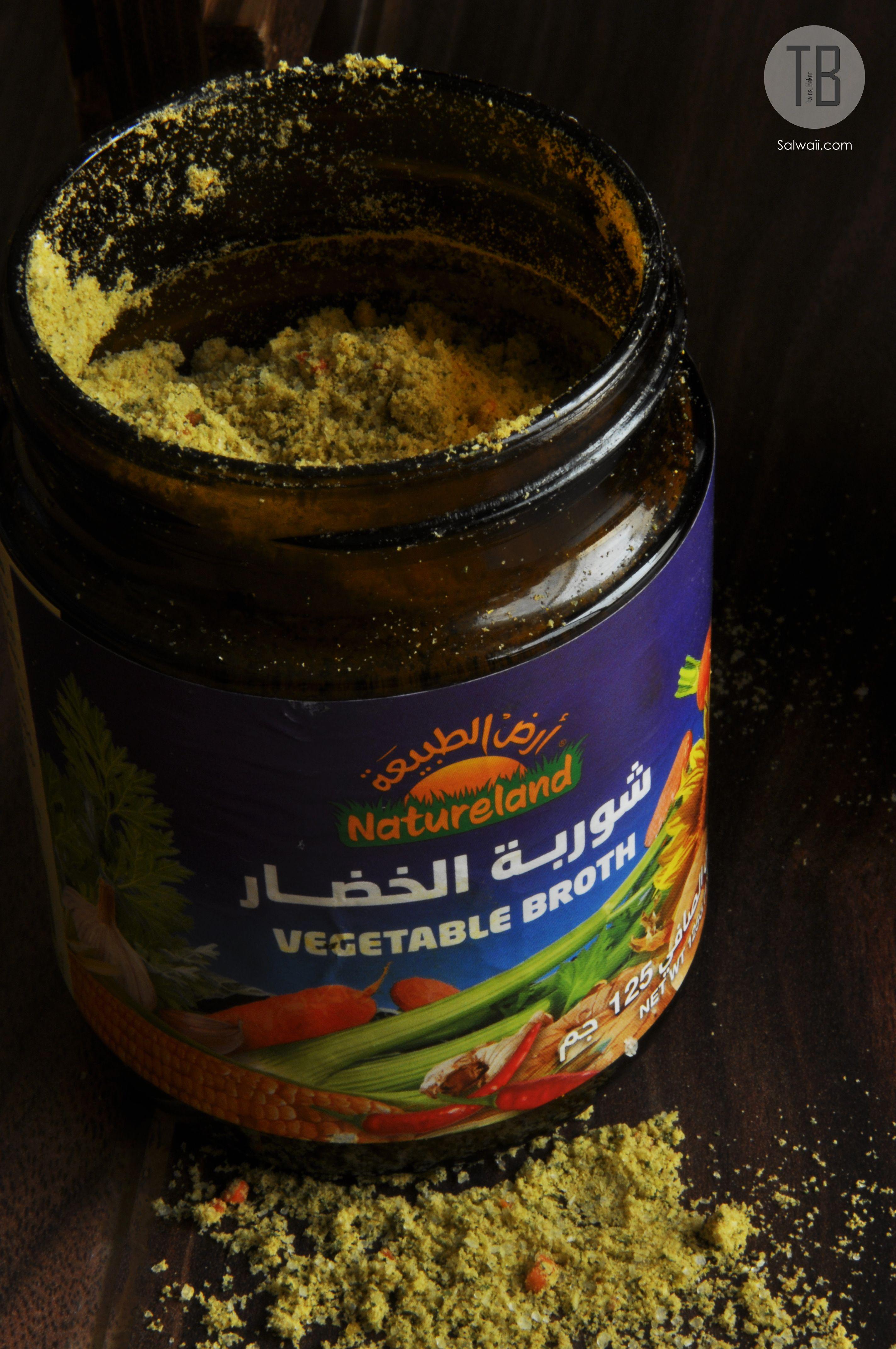 Vegetable Broth تجربة بديل الماجي شوربة الخضار من أرض الطبيعة Food Spices Coffee Cans