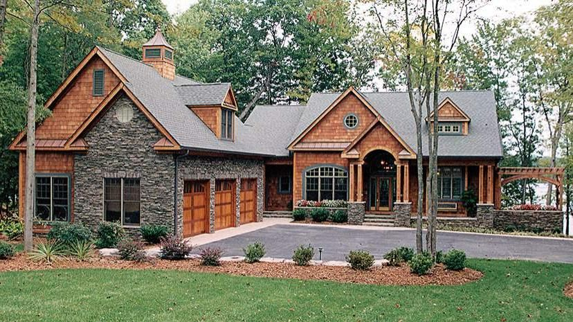 Walkout basement house plans for lake 9882 beautiful for Lake view home designs