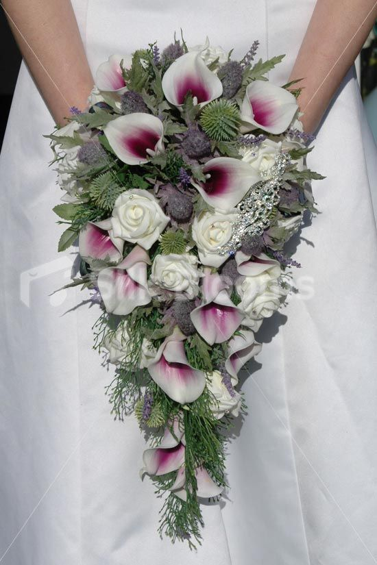 Bradana Bride Purple Vermeer Lily Ivory Rose Thistle Bridal Wedding Bouquet Click Here Silk Flower Wedding Bouquet Bridal Bouquet Artificial Flowers Wedding
