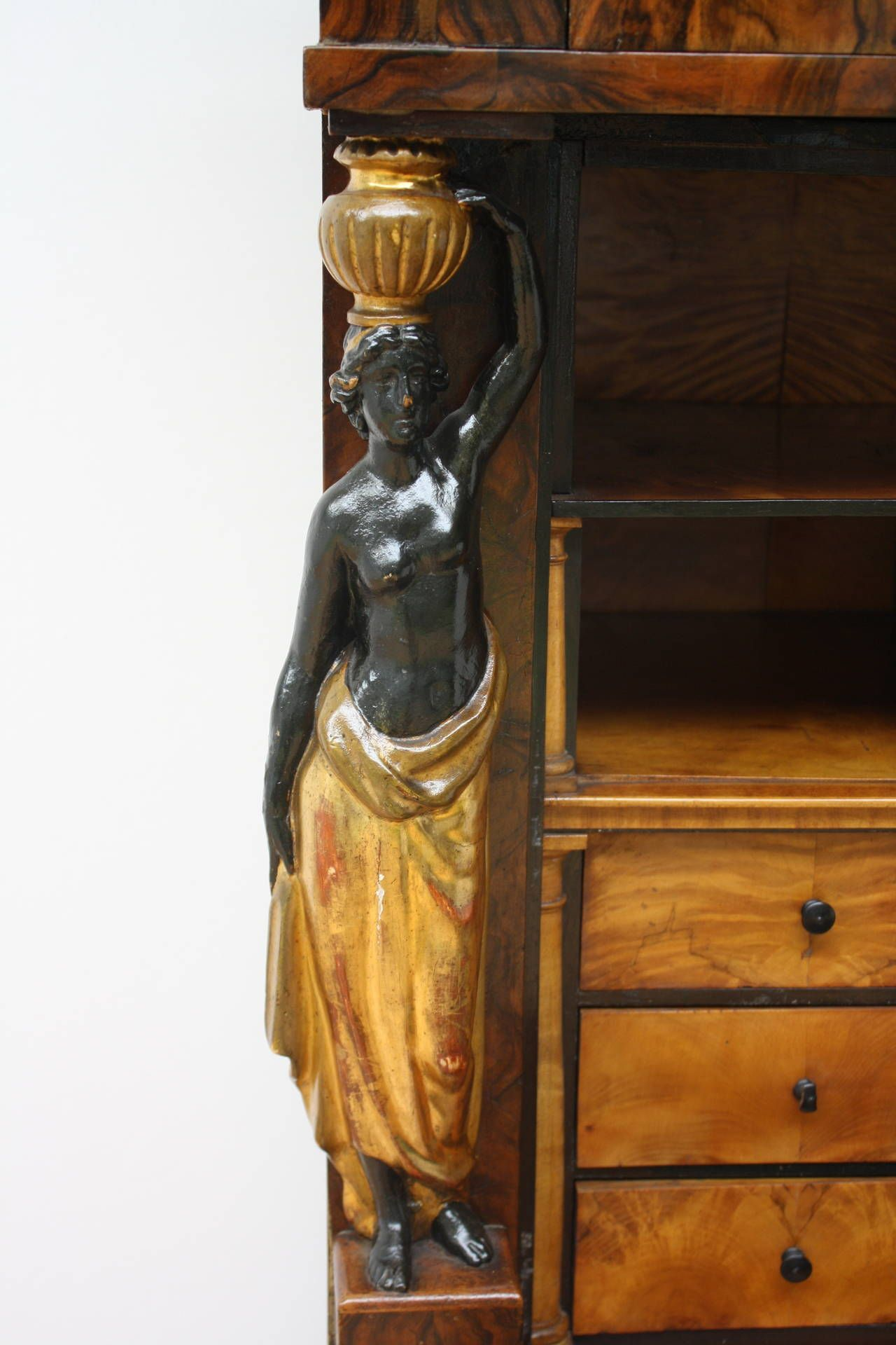 3 of 3: 19th Century, Early Biedermeier Secretaire a Abattant, Austria, circa 1820  | From a unique collection of antique and modern secretaires at https://www.1stdibs.com/furniture/storage-case-pieces/secretaires/