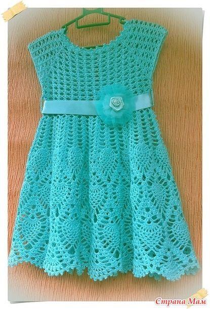 платье мятная нежность вязание для детей страна мам Girls