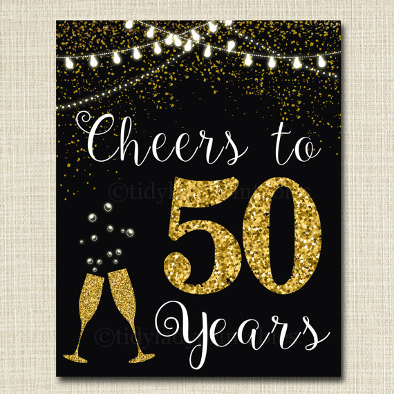 50 Years Golden Anniversary Decorations