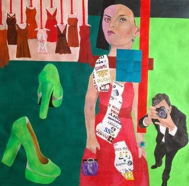 "Saatchi Art Artist Nasrin Barekat; Painting, ""from the irony album"" #art"
