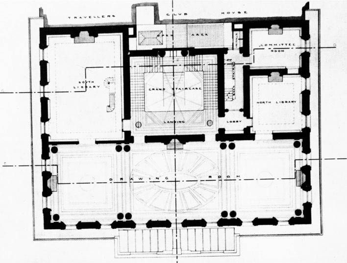 File Athenaeum 1st Floor Drawn 1882 Jpg Athenaeum Pall Mall Ground Floor Plan