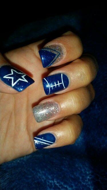 My Dallas Cowboys Nails Nails Pinterest Nails Dallas Cowboys