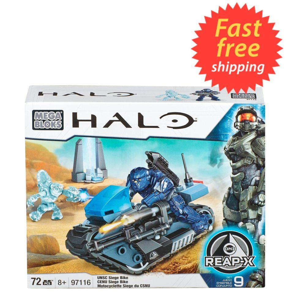 New Mega Blocks 97116 Halo Wars 72 Pc Unsc Siege Bike Oni Reap X