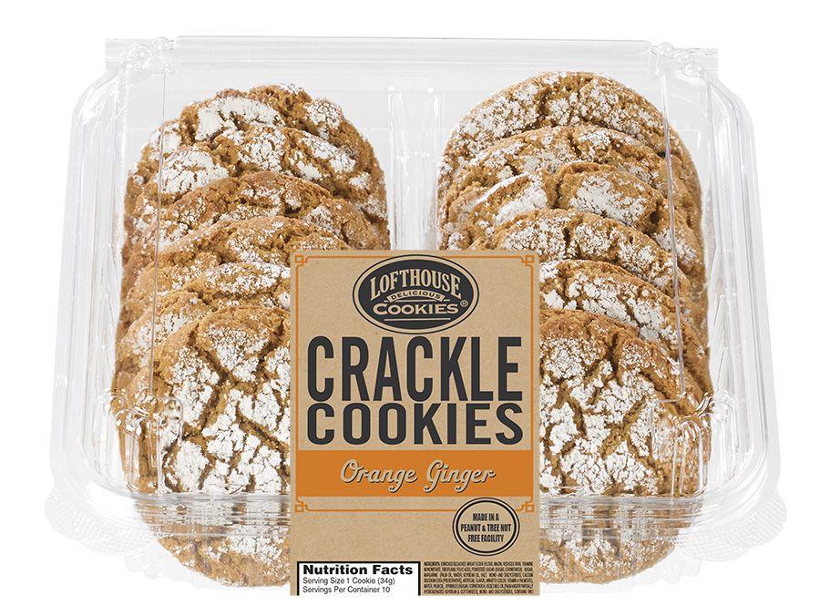 Orange Ginger Crackle Cookies | Lofthouse Cookies