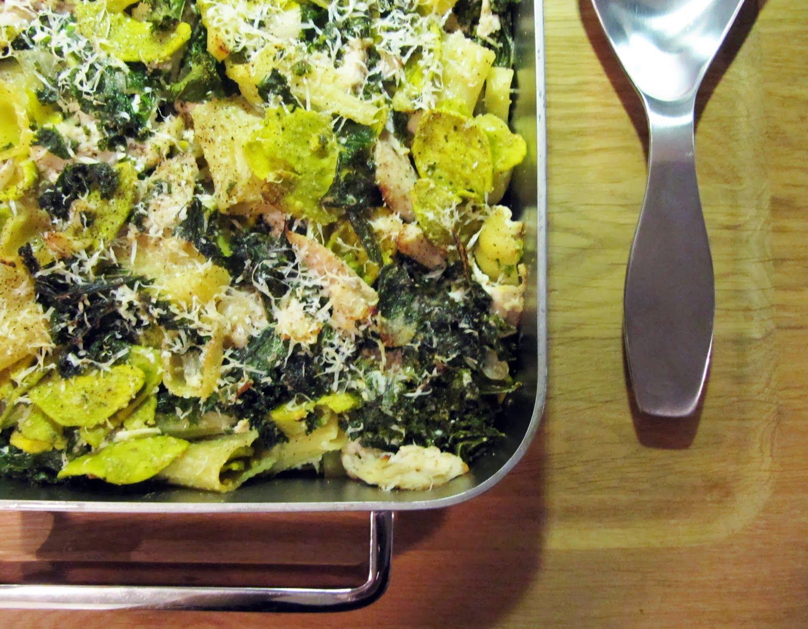 Kana-lehtikaali-pastapaistos: Kipparin morsian