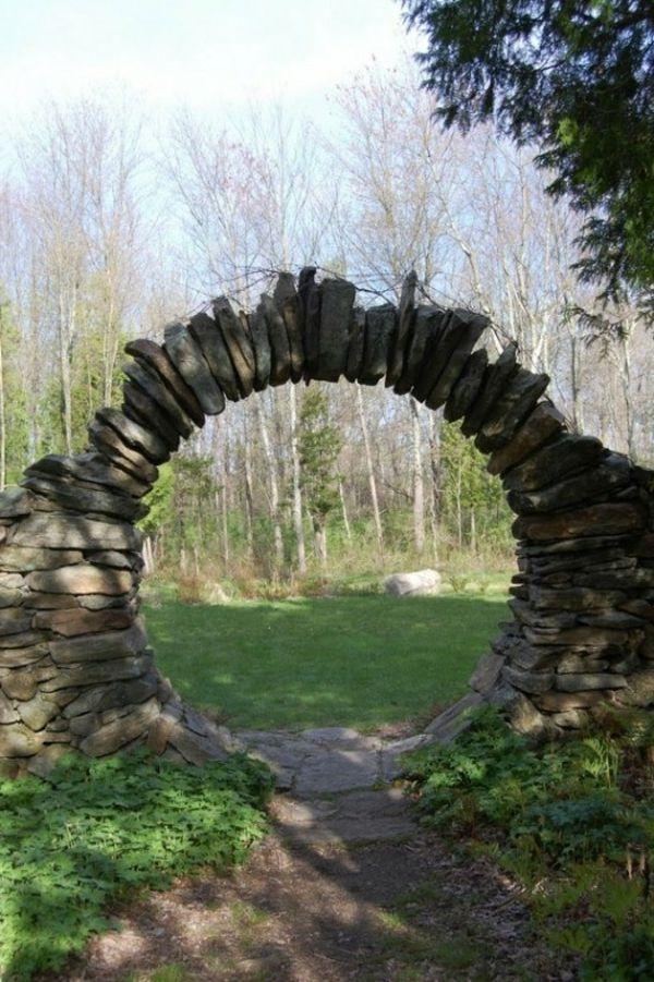 Gras Und Dekorative Steine Fur Eine Moderne Gartengestaltung 53