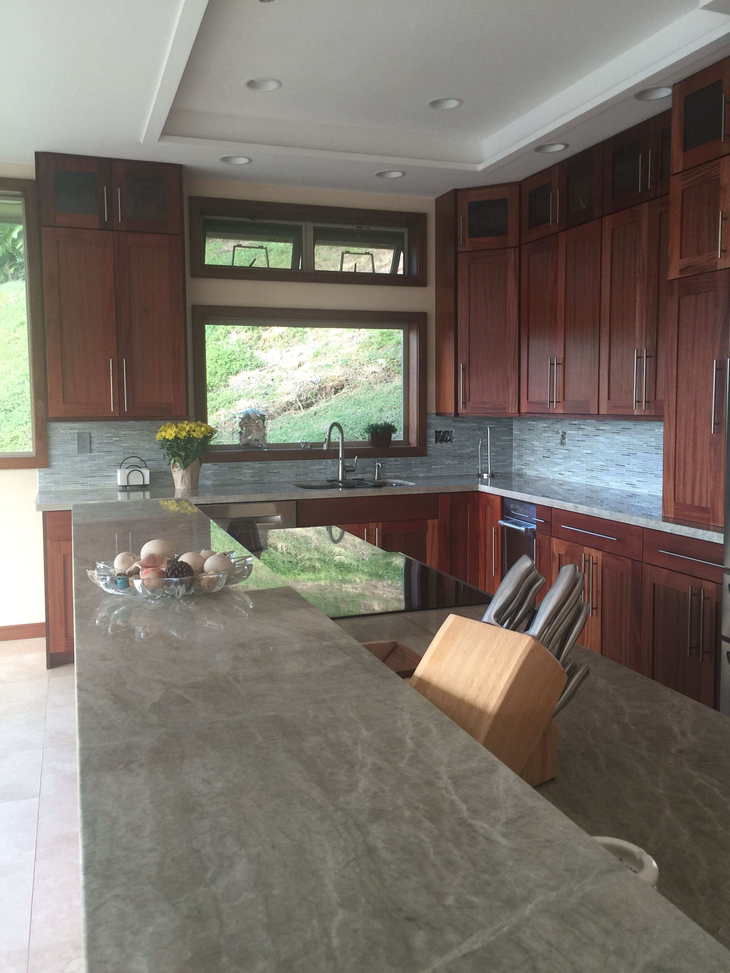We Decided To Go With Grey Outlets In The Kitchen. Mahogany Cabinets By  Total Building
