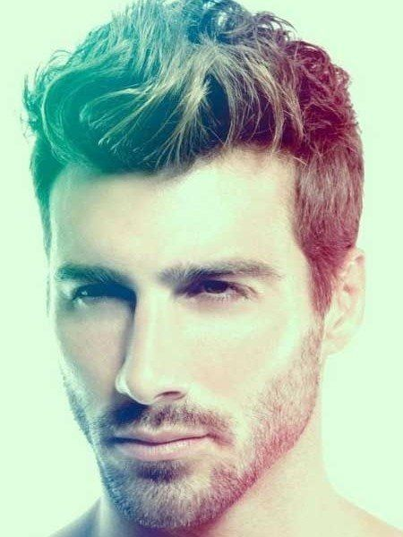 Mens Messy Wavy Hairstyle Short On Sides And Long On Top Hair Mens Short Hairstyles Short Sides Long Top Mens Hairstyles Mens Hairstyles Short Beard Styles