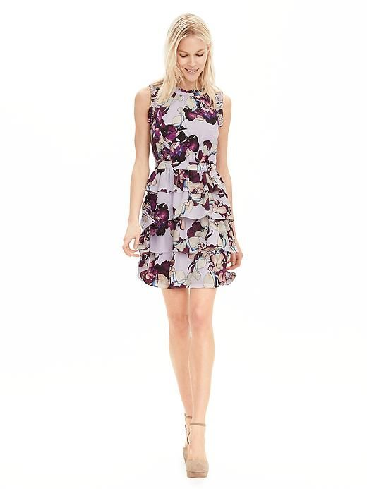Floral ruffle dress from banana republic usd for Banana republic wedding dresses