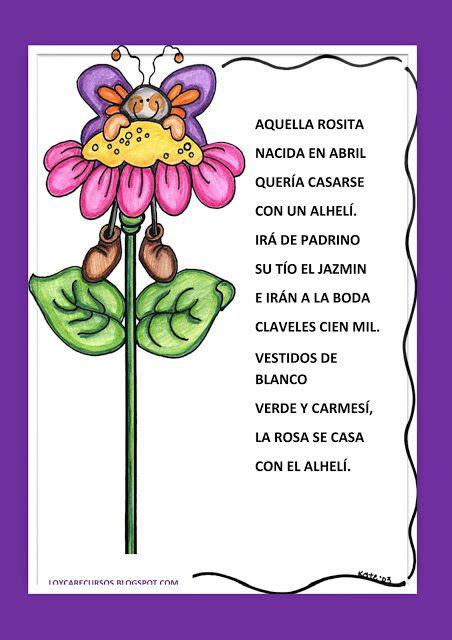 EL RINCÓN DE LA LECTURA: Poemas para niños   Poema (Primavera ...