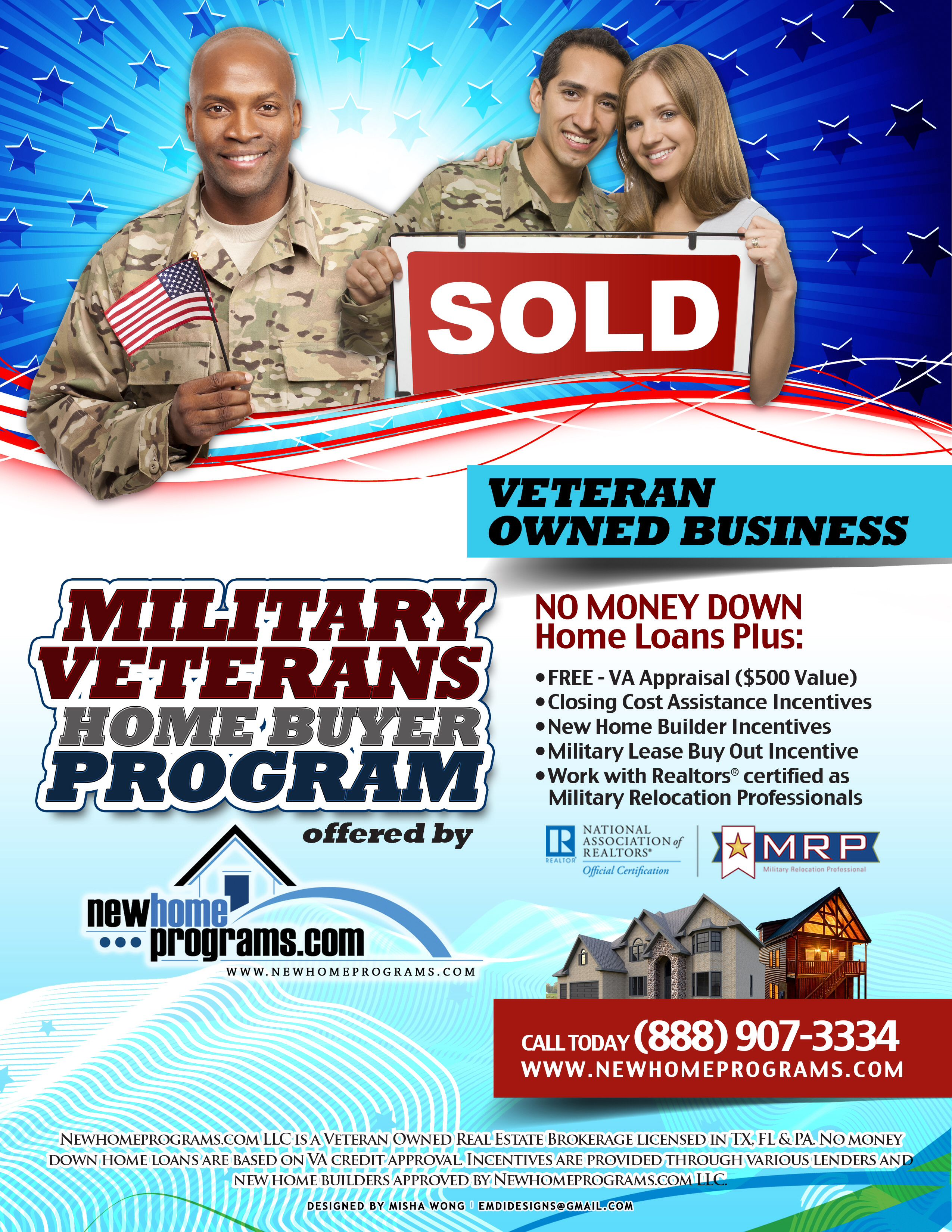 Newhome Programs For Military Veterans Available Houston
