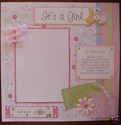 Baby Girl 20 Premade Scrapbook Pages Album Mdqb Sweet Picture