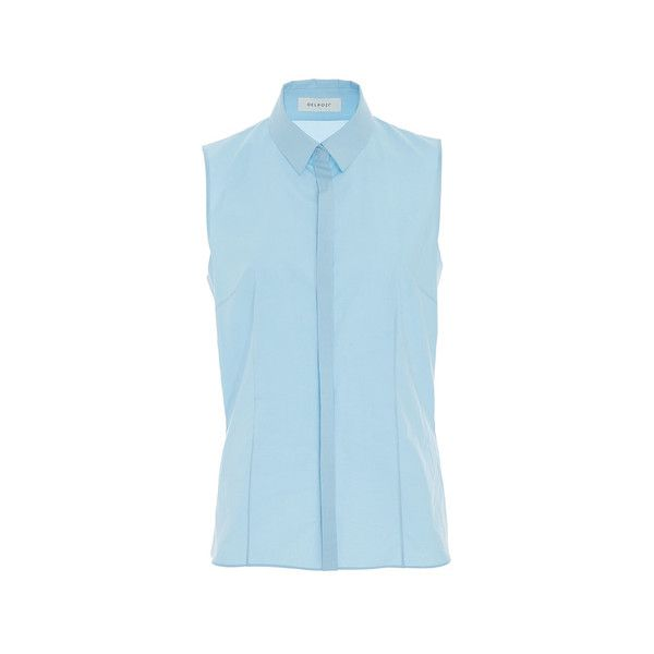 4d6eb9fd8bb20 DELPOZO ( 920) via Polyvore featuring sleeveless tops