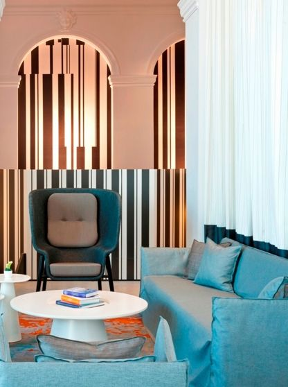 Motel Room Interiors: A 1912 Built Hotel In Normandy Gets A Modern Makeover