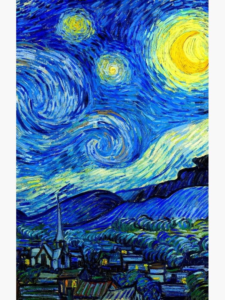 """""""Starry Night by Van Gogh"""" Case in 2020 Android art, Art"""