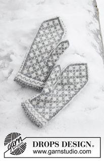 Photo of Knock Knock Santa – Gestrickte Fäustlinge in DROPS Karisma. Die Arbeit wird gestrickt mit nordischem Muster. Thema: Weihnachten. – Free pattern by DROPS Design