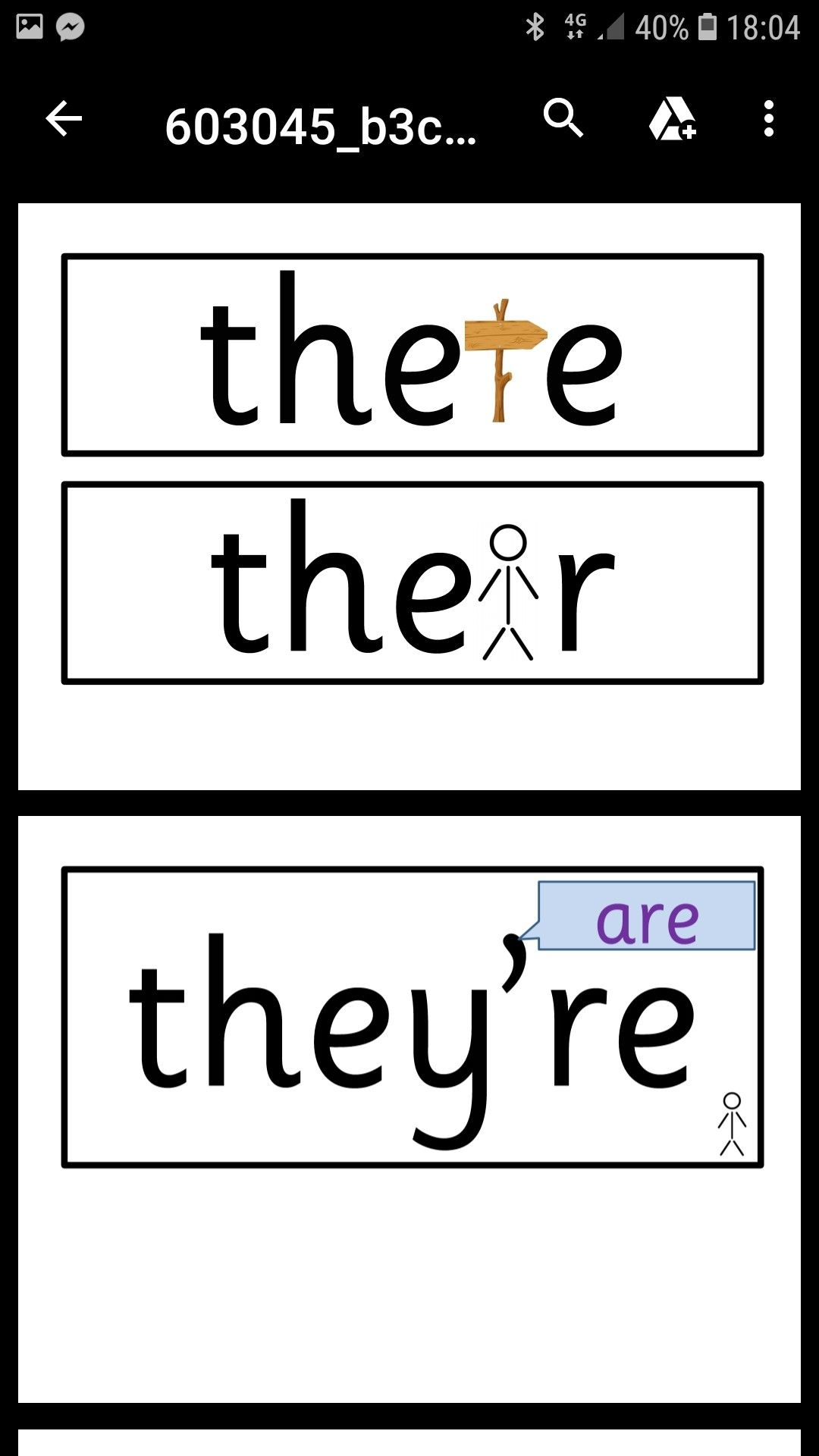 Homophones Cards With Images