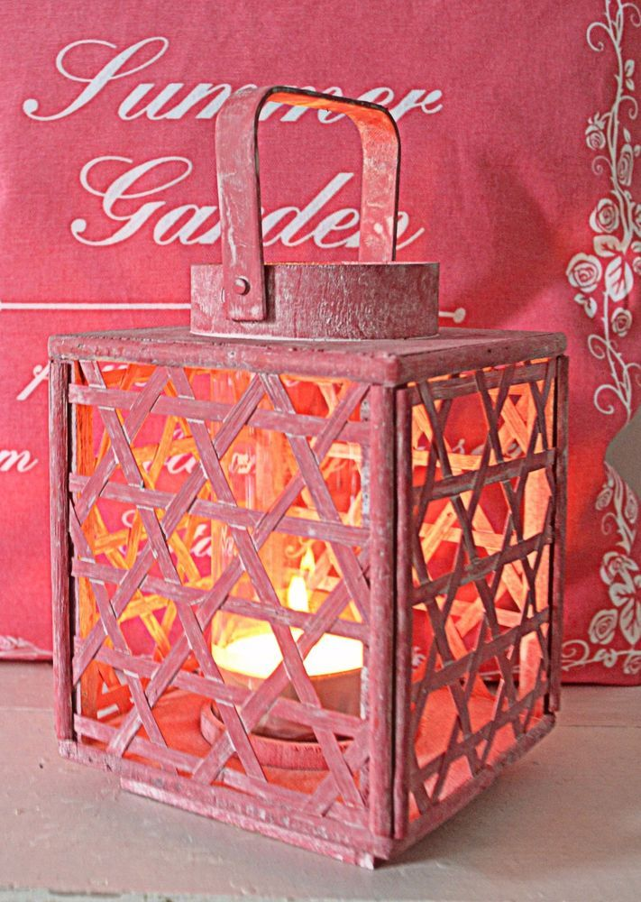 Entzückende Shabby Chic Laterne Windlicht zum Hängen oder Stellen - drahtkörbe für küchenschränke