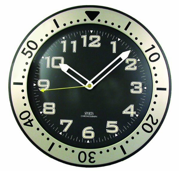 Timekeeper 515bb 11 Inch Round Glow In The Dark Wall Clock Amazon Home Amp Kitchen Wall Clock Clock Chronograph Design