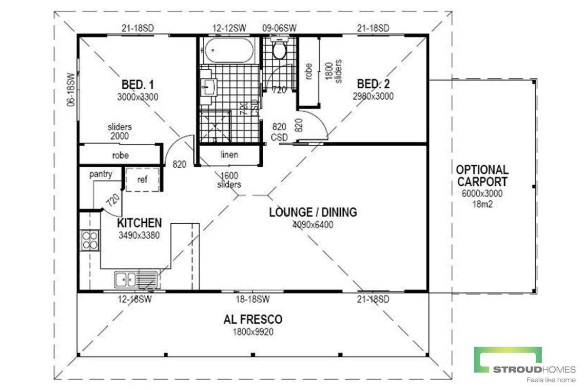 The Violet Granny Flat Floor Plan Granny Flat Stroud