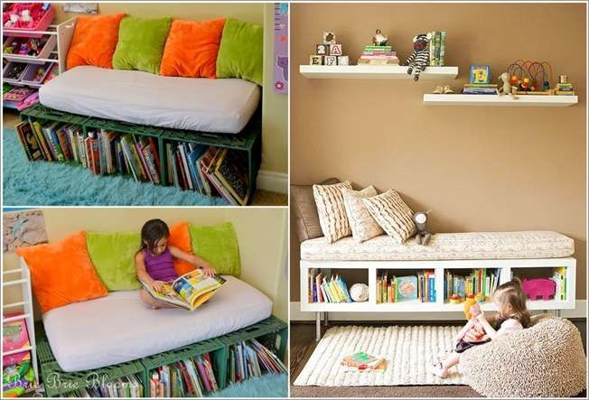 10 Cool and Creative Kidsu0027 Book Storage Ideas & Pin by Melissa Mather on Daveu0027s Wood Projects | Pinterest | Book ...