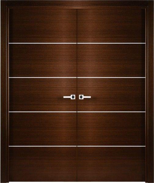 Mia 2 Contemporary Italian Wenge Interior Double Door With