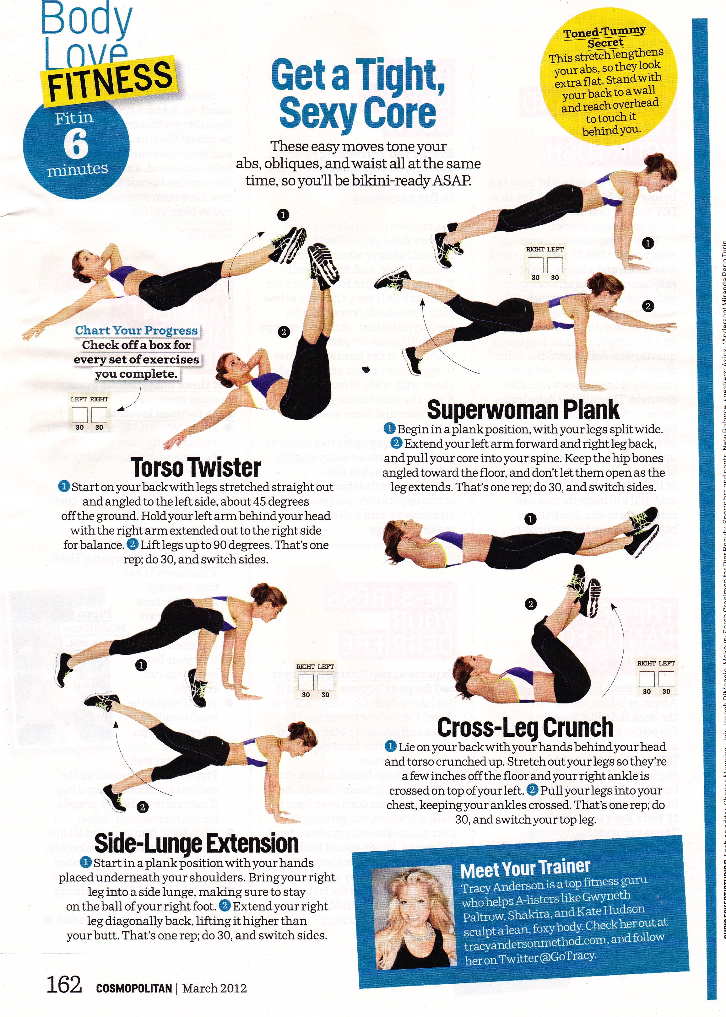 It S That Time Again Tracy Anderson Tight Core Workout Exercise