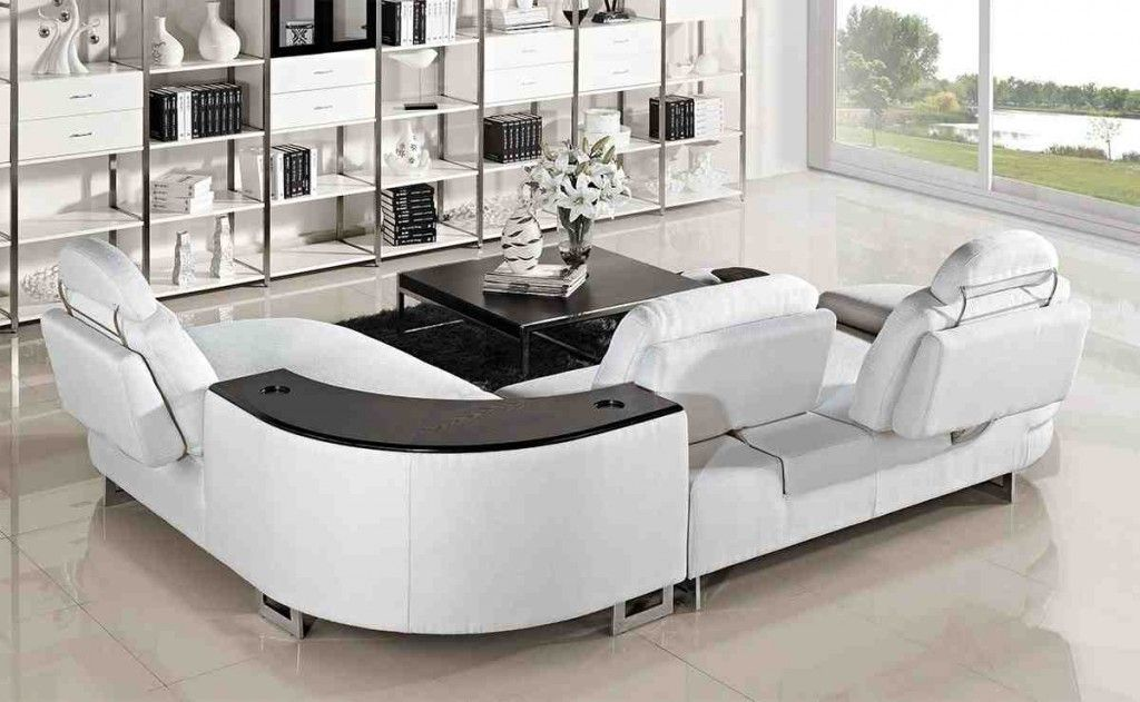 Curved Reclining Sofa Modern Leather Sectional Sofas Sectional