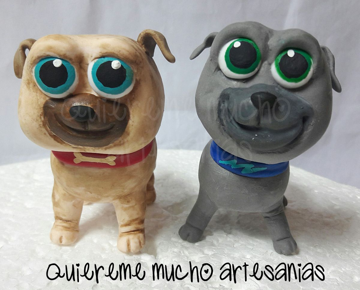 Puppy dog pals cold porcelain cake toppers rolly y bingo