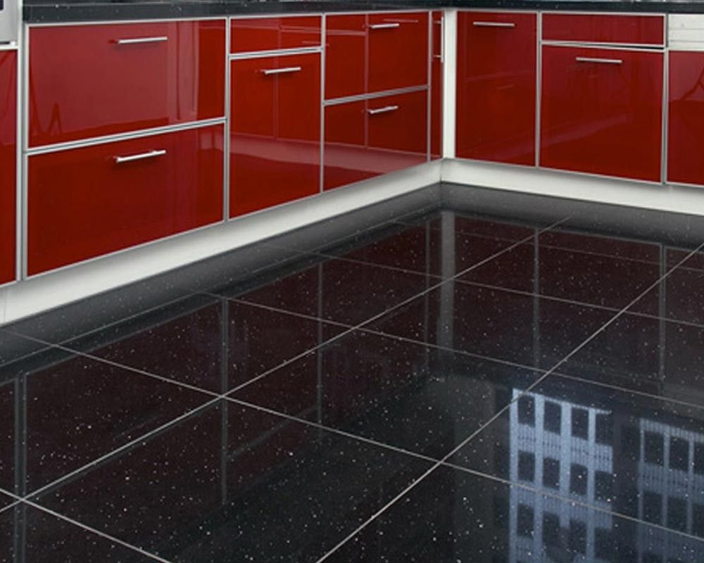 Home Decor Floor Tiles Black Thru Body Porcelain Floor Tile  Quartz Black Tiles